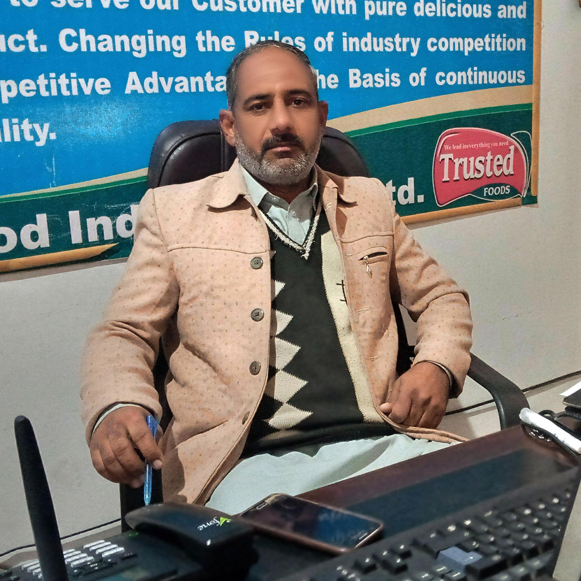 Ijaz Ali Marketing Coordinator Of Trusted Food Industry